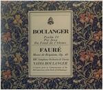 [중고] Nadia Boulanger - 포레: 레퀴엠, 브랑제: 시편 24, 피에 예수 (Faure: Requiem, Boulanger: Psalm 24, Pie Jesu)