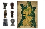 Game of Thrones Map Markers and Map (Other)