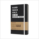 Moleskine Limited Collection Denim Notebook, Large, Ruled, Dark Blue, Hand Wash, Hard Cover (5 X 8.25) (Other)