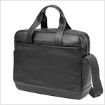 Moleskine Classic Leather Briefcase, Black (Other)
