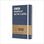 Moleskine Limited Collection Denim Notebook, Large, Ruled, Light Blue, Don't Handle, Hard Cover (5 X 8.25) (Other)