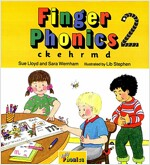 Finger Phonics book 2 : in Precursive Letters (BE) (Board Book)