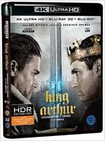 [4K 블루레이] 킹 아서: 제왕의 검 : 한정판 (3disc: 4K UHD+3D+2D)