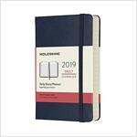 Moleskine 2019 12m Daily, Pocket, Daily, Blue Sapphire, Hard Cover (3.5 X 5.5) (Desk)