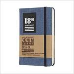 Moleskine 2018-2019 18m Limited Edition Denim Weekly Notebook, Pocket, Weekly Notebook, Blue Pocket, Hard Cover (3.5 X 5.5) (Desk)