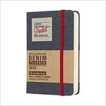 Moleskine 2019 12m Limited Edition Denim Daily, Pocket, Daily, Black, Hard Cover (3.5 X 5.5) (Desk)