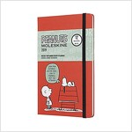 Moleskine 2019 12m Limited Edition Peanuts Weekly Notebook, Large, Weekly Notebook, Red, Hard Cover (5 X 8.25) (Desk)