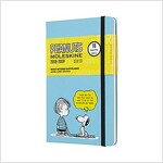 Moleskine 2018-2019 18m Limited Edition Peanuts Weekly Notebook, Large, Weekly Notebook, Blue, Hard Cover (5 X 8.25) (Desk)