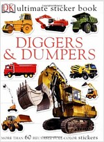 Ultimate Sticker Book: Diggers and Dumpers [With 60 Reusable Stickers] (Paperback)