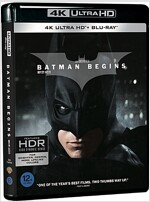 [4K 블루레이] 배트맨 비긴즈 (3disc: 4K UHD + BD + 보너스 디스크)