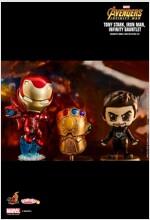 [Hot Toys] 코스베이비 토니스타크+아이언맨 마크50, 인피니티 건틀렛 콜렉터블 세트 COSB464 - Tony Stark, Iron Man, Infinity Gauntlet Cosbaby (S) Bobble-Head Collectible Set
