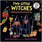 Two Little Witches: A Halloween Counting Story [With 40 Stickers] (Paperback)