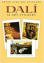 Dali: 16 Art Stickers (Paperback)
