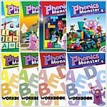 [세트] Phonics Monster 1~4권 (Student Book 4권+Workbook 4권)