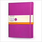 Moleskine Classic Extra Large Ruled Notebook: Orchid Purple (Paperback)