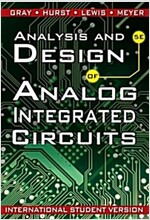 Analysis and Design of Analog Integrated Circuits (Paperback, 5th Edition International Student Version)
