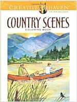 Country Scenes Coloring Book (Paperback, CLR, Reprint)