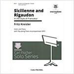 Sicilienne And Rigaudon - Intermediate - Violin & Piano - BK/CD (Sheet music)