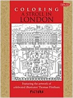 Coloring a Stroll in London: Featuring the Artwork of Celebrated Illustrator Thomas Flintham (Paperback)