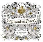 Enchanted Forest : An Inky Quest and Colouring Book (Paperback)