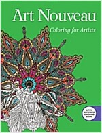 Art Nouveau: Coloring for Artists (Paperback)
