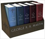 A Game of Thrones Leather-Cloth Boxed Set: A Game of Thrones, a Clash of Kings, a Storm of Swords, a Feast for Crows, and a Dance with Dragons (Boxed Set)