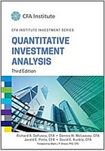 Quantitative Investment Analysis (Hardcover, 3, Revised)