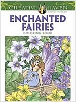 Creative Haven Enchanted Fairies Coloring Book (Paperback)