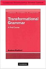 Transformational Grammar (Paperback, Student Edition) (International)