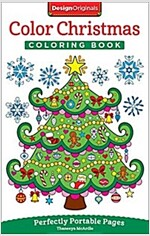 Color Christmas Coloring Book: Perfectly Portable Pages (Paperback)
