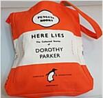 HERE LIES - DOROTHY PARKER BOOK BAG