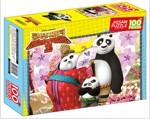 쿵푸 팬더 3 직소퍼즐 100조각 : 포와 새로운 친구들