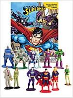 DC Superman My Busy Book (미니피규어 12개 포함) (Board book)