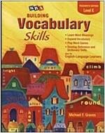 Building Vocabulary Skill Level K : Teacher's Edition