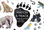 Match a Track : Match 25 Animals to Their Paw Prints (Hardcover)