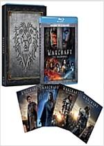 [3D 블루레이] 워크래프트: 전쟁의 서막 - 얼라이언스 오링케이스 한정판 콤보팩 (2disc: 3D+2D)