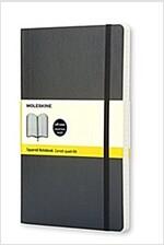 Moleskine Classic Notebook, Pocket, Squared, Black, Soft Cover (3.5 X 5.5) (Imitation Leather)