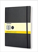 Moleskine Classic Notebook, Extra Large, Squared, Black, Soft Cover (7.5 X 10) (Paperback)