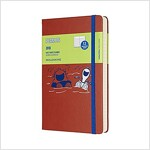 Moleskine Limited Edition Peanuts, 12 Month Daily Planner, Large, Coral Orange (5 X 8.25) (Desk)