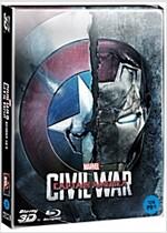 [3D 블루레이] 캡틴 아메리카: 시빌 워 - 한정판 스틸북 콤보팩 (2disc: 3D+2D)