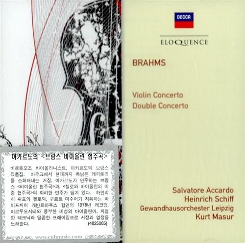 [수입] 브람스 : 바이올린 협주곡 op.77, 이중 협주곡 op.102