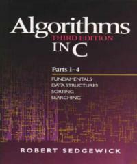 Algorithms in C 3rd ed