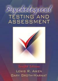 Psychological testing and assessment 12th ed
