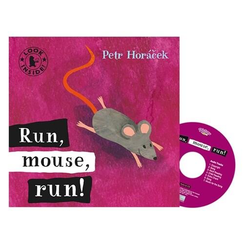 Pictory Set IT-16(HCD) / Run, Mouse, Run! (Hardcover, Hybrid CD, Infant & Toddler)