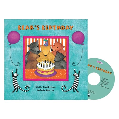 Pictory Set PS-64 / Bears Birthday (Paperback + Audio CD)