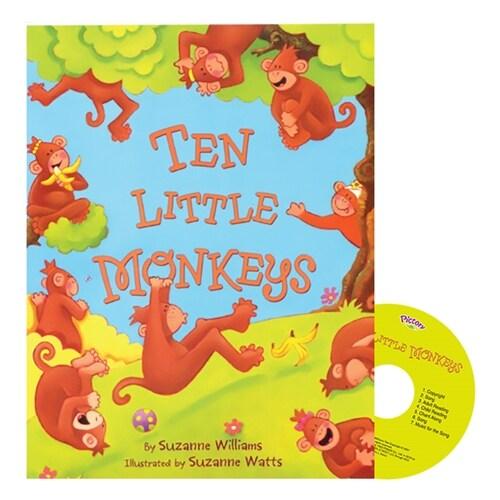 Pictory Set 1-40 / Ten Little Monkeys (Paperback, Audio CD, Step 1)