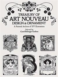 Treasury of Art Nouveau Design & Ornament (Paperback)