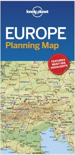 Lonely Planet Europe Planning Map (Folded)