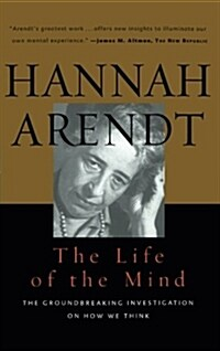 Life of the Mind: One/Thinking, Two/Willing (Paperback)