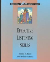 Effective listening skills
